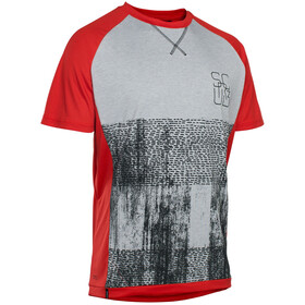 ION Scrub_Amp Bike Jersey Shortsleeve Men grey/red